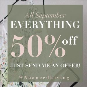50% off everything sale !! Just send me an offer!!